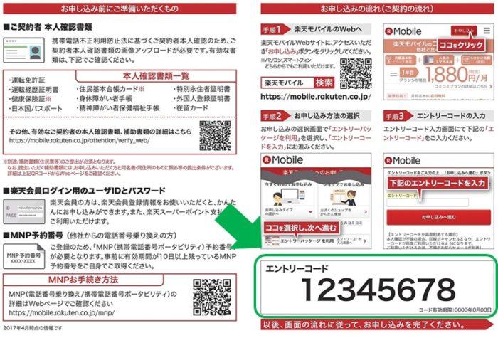 楽天モバイル 店舗コード